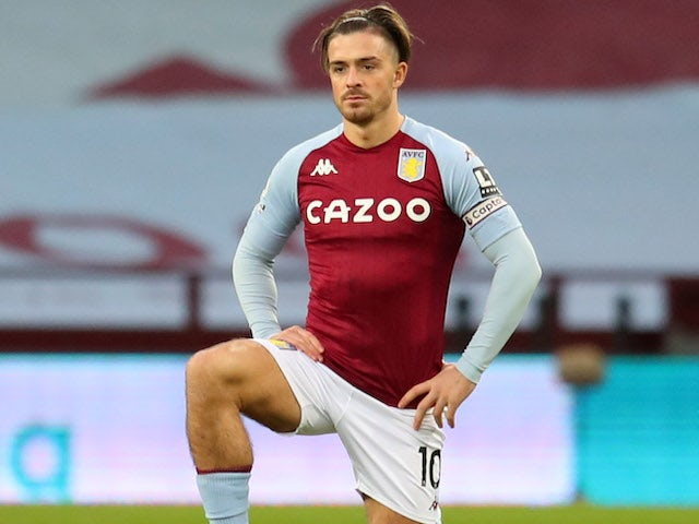 Jack Grealish in action for Aston Villa on December 26, 2020