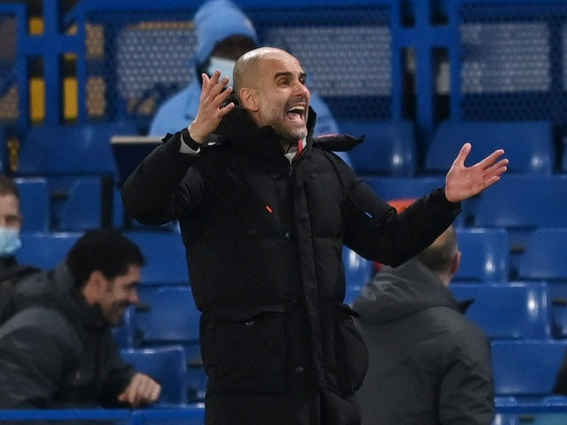 Manchester City manager Pep Guardiola pictured on January 3, 2021