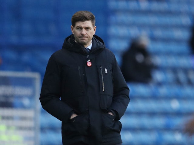 Rangers manager Steven Gerrard pictured on January 2, 2021