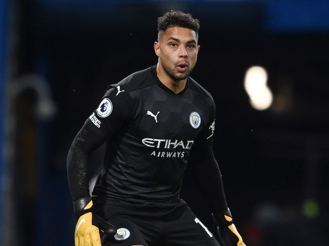 Manchester City goalkeeper Zack Steffen pictured on January 3, 2021